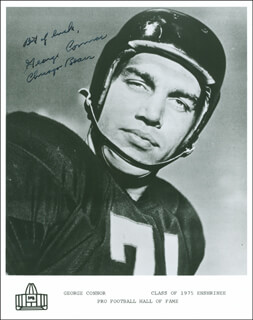 GEORGE CONNOR - AUTOGRAPHED SIGNED PHOTOGRAPH