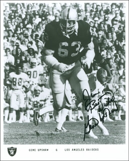 GENE UPSHAW - AUTOGRAPHED INSCRIBED PHOTOGRAPH