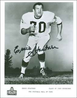 ERNIE STAUTNER - AUTOGRAPHED SIGNED PHOTOGRAPH