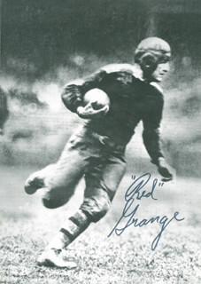 RED GRANGE - MAGAZINE PHOTOGRAPH SIGNED