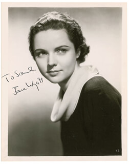 JANE WYATT - AUTOGRAPHED INSCRIBED PHOTOGRAPH CIRCA 1934