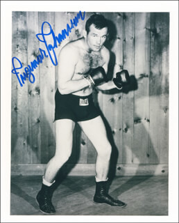 INGEMAR JOHANSSON - AUTOGRAPHED SIGNED PHOTOGRAPH