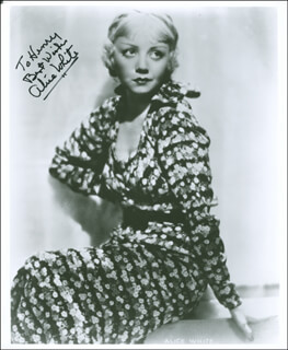 ALICE WHITE - AUTOGRAPHED INSCRIBED PHOTOGRAPH