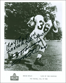 MARION MOTLEY - AUTOGRAPHED SIGNED PHOTOGRAPH