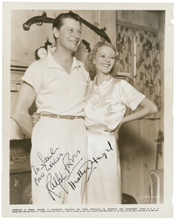 Autographs: RALPH FORBES - INSCRIBED PRINTED PHOTOGRAPH SIGNED IN INK CIRCA 1940 CO-SIGNED BY: HEATHER G. ANGEL