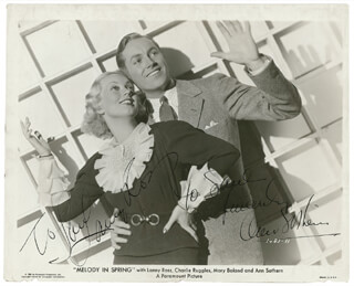 MELODY IN SPRING MOVIE CAST - AUTOGRAPHED INSCRIBED PHOTOGRAPH CO-SIGNED BY: ANN SOTHERN, MAJOR LANNY ROSS