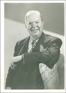 CHARLES D. COBURN - AUTOGRAPHED INSCRIBED PHOTOGRAPH 1947