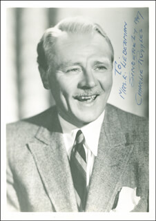 CHARLIE RUGGLES - AUTOGRAPHED INSCRIBED PHOTOGRAPH 1947
