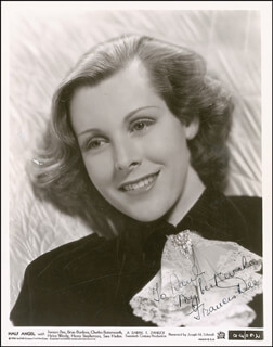 FRANCES DEE - AUTOGRAPHED INSCRIBED PHOTOGRAPH CIRCA 1945