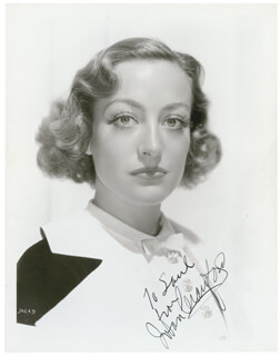 JOAN CRAWFORD - AUTOGRAPHED INSCRIBED PHOTOGRAPH CIRCA 1935