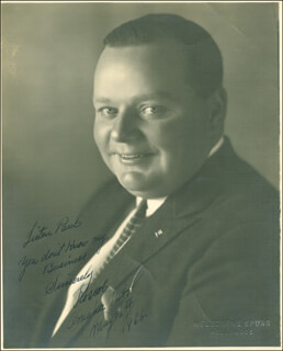 ROSCOE FATTY ARBUCKLE - AUTOGRAPHED INSCRIBED PHOTOGRAPH 05/16/1926  - HFSID 289922