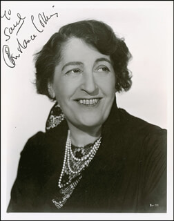 CONSTANCE COLLIER - AUTOGRAPHED INSCRIBED PHOTOGRAPH CIRCA 1936