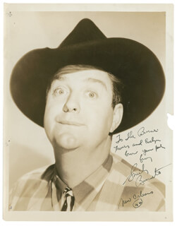 SMILEY (LESTER) BURNETTE - AUTOGRAPHED INSCRIBED PHOTOGRAPH 1944  - HFSID 289926