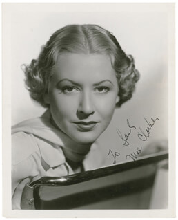 MAE CLARKE - AUTOGRAPHED INSCRIBED PHOTOGRAPH CIRCA 1940