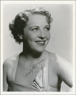 MADY (MARGUERITA MARIA) CHRISTIANS - AUTOGRAPHED INSCRIBED PHOTOGRAPH CIRCA 1936