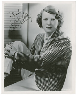 RUTH CHATTERTON - AUTOGRAPHED INSCRIBED PHOTOGRAPH CIRCA 1939