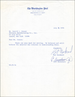 Autographs: WATERGATE ARCHIVE