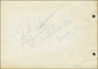 Autographs: SMILEY (LESTER) BURNETTE - AUTOGRAPH NOTE SIGNED CO-SIGNED BY: CARL COHEN