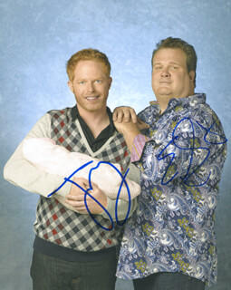 MODERN FAMILY TV CAST - AUTOGRAPHED SIGNED PHOTOGRAPH CO-SIGNED BY: JESSE TYLER FERGUSON, ERIC STONESTREET