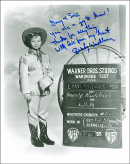 BEVERLY WASHBURN - AUTOGRAPHED INSCRIBED PHOTOGRAPH
