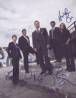LAW AND ORDER: CRIMINAL INTENT TV CAST - AUTOGRAPHED SIGNED PHOTOGRAPH CO-SIGNED BY: ERIC BOGOSIAN, CHRIS NOTH, KATHRYN ERBE, VINCENT D'ONOFRIO, JULIANNE NICHOLSON