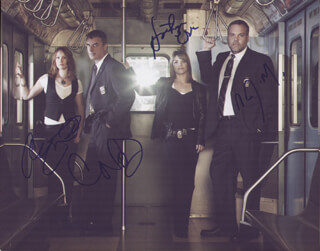LAW AND ORDER: CRIMINAL INTENT TV CAST - AUTOGRAPHED SIGNED PHOTOGRAPH CO-SIGNED BY: ALICIA WITT, CHRIS NOTH, KATHRYN ERBE, VINCENT D'ONOFRIO