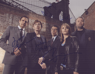 LAW AND ORDER: CRIMINAL INTENT TV CAST - AUTOGRAPHED SIGNED PHOTOGRAPH CO-SIGNED BY: JEFF GOLDBLUM, KATHRYN ERBE, VINCENT D'ONOFRIO, JULIANNE NICHOLSON