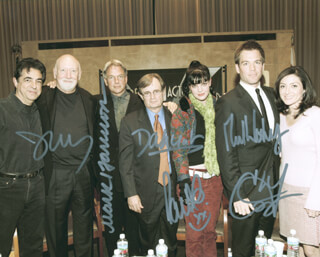 NCIS TV CAST - AUTOGRAPHED SIGNED PHOTOGRAPH CO-SIGNED BY: DAVID McCALLUM, MARK HARMON, PAULEY PERRETTE, SASHA ALEXANDER, MICHAEL WEATHERLY, DONALD P. BELLISARIO