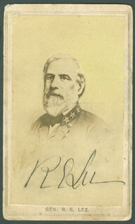 Autographs: GENERAL ROBERT E. LEE - PHOTOGRAPH SIGNED