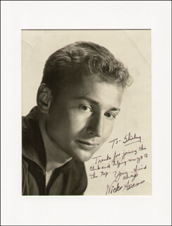 Autographs: NICK THE REBEL ADAMS - INSCRIBED PHOTOGRAPH SIGNED