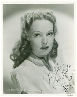 RITA JOHNSON - AUTOGRAPHED INSCRIBED PHOTOGRAPH CIRCA 1940