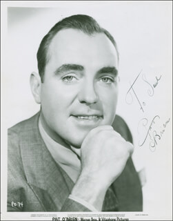PAT O'BRIEN - AUTOGRAPHED INSCRIBED PHOTOGRAPH CIRCA 1935