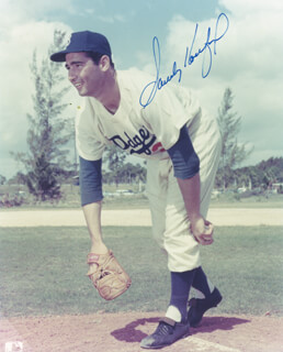 SANDY KOUFAX - AUTOGRAPHED SIGNED PHOTOGRAPH