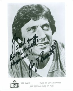JOE NAMATH - AUTOGRAPHED INSCRIBED PHOTOGRAPH