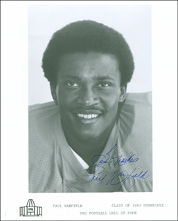 PAUL WARFIELD - AUTOGRAPHED SIGNED PHOTOGRAPH