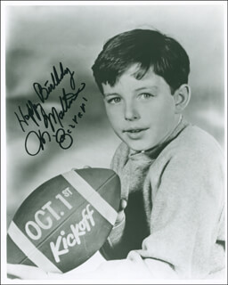 JERRY THE BEAVER MATHERS - AUTOGRAPHED SIGNED PHOTOGRAPH