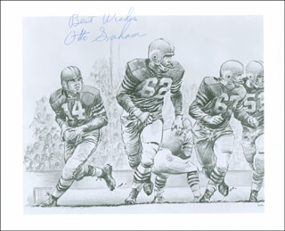 Autographs: OTTO GRAHAM - PRINTED ART SIGNED IN INK