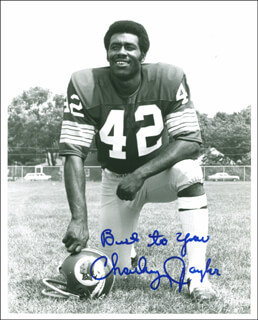 CHARLES TAYLOR - AUTOGRAPHED SIGNED PHOTOGRAPH