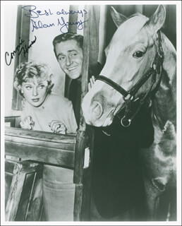 MISTER ED TV CAST - AUTOGRAPHED SIGNED PHOTOGRAPH CO-SIGNED BY: ALAN YOUNG, CONNIE HINES