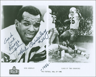 Autographs: HERB ADDERLEY - PHOTOGRAPH SIGNED 1986