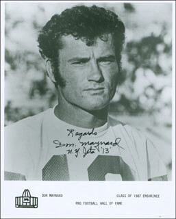 DON MAYNARD - AUTOGRAPHED SIGNED PHOTOGRAPH