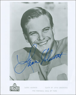 LANCE ALWORTH - AUTOGRAPHED SIGNED PHOTOGRAPH