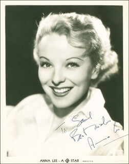 ANNA LEE - AUTOGRAPHED INSCRIBED PHOTOGRAPH