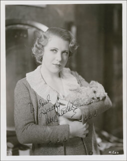 RUTH CHATTERTON - AUTOGRAPHED INSCRIBED PHOTOGRAPH CIRCA 1935