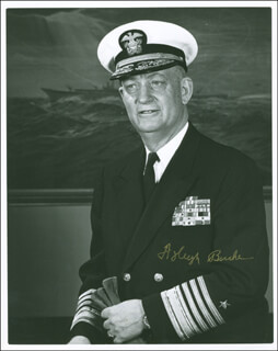 Autographs: ADMIRAL ARLEIGH A. BURKE - PHOTOGRAPH SIGNED