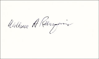 CHIEF JUSTICE WILLIAM H. REHNQUIST - AUTOGRAPH
