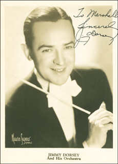 JIMMY DORSEY - AUTOGRAPHED INSCRIBED PHOTOGRAPH CIRCA 1939
