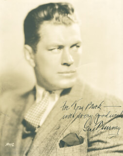 GENE TUNNEY - AUTOGRAPHED INSCRIBED PHOTOGRAPH