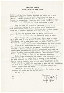 JAMES CAGNEY - AUTOGRAPH LETTER SIGNED 07/03/1979