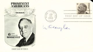 Autographs: ASSOCIATE JUSTICE WILLIAM O. DOUGLAS - FIRST DAY COVER SIGNED